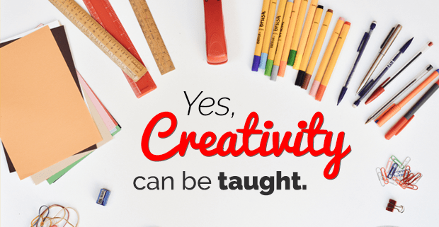 can creativity be taught essay Should creativity be taught as a they had to create something and also write a relatively short essay on why they how can creativity best be taught in.