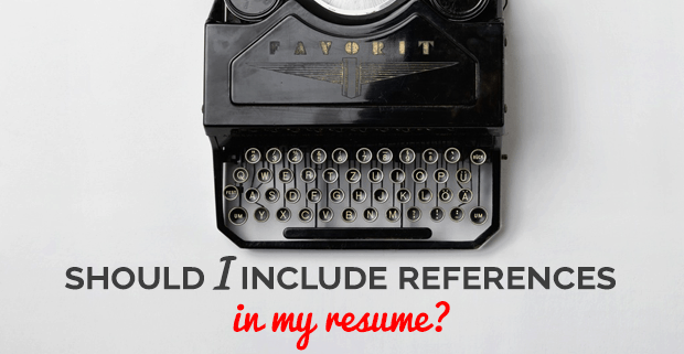 should a cover letter include references